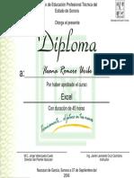 Diploma Curso Excel