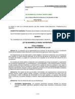 LEY DE DESARROLLO RURAL SUSTENTABLE