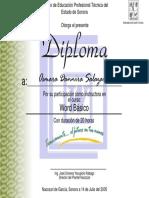 Diploma Curso Word Instructor