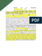 MODELO Acta Constitutiva Cooperativa