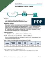 5.1.4.3 Lab - Using Wireshark to Examine Ethernet Frames.docx