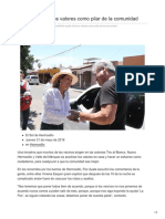 Flor Ayala Mira Los Valores Como Pilar de La Comunidad