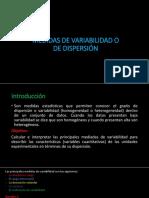 Medidas de Dispersión