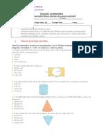 evaluación de geometría área y volumen 8°