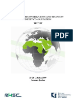 Reconstruction Expert Consultation Report