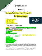 La Irrigacion -DeSARROLLO Del Proyecto Word -