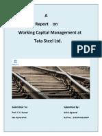 Project Report on Working Capital Management at Tata Steel Ltd.