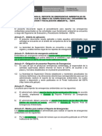 Reporte de Emergencia Ambiental - OEFA
