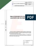 018 Procedimiento Gestion Incidencias