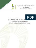 Guía Para La Evaluación de Riesgos Psicosociales 2015