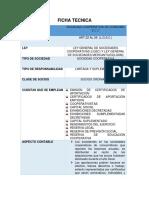 Ficha Tecnica Sociedad Cooperativa