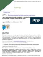 Aguas Residuales en Mataderos de Pollos_ Optimización Del Desangrado y La Recogida de La Sangre en Un Matadero de Pollos _ Aguas Industriales