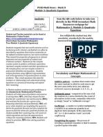 M2 Module 3 Newsletter Quadratic Equations