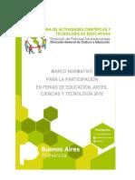 Marco Normativo 2018 Feria de Ciencias