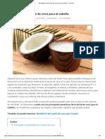 Beneficios de La Leche de Coco Para El Cabello - UnComo