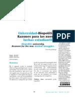 Universidad - Biopolítica. Razones Para Las Nuevas Luchas Estudiantiles.