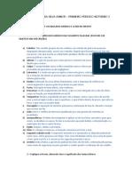 Exercícios Das Aulas de Vocabulário Jurídico e Latim No Direito