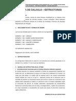 Memoria de Calculo de Estructuras Est. David