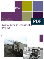 Topic 6 Law of Torts in Construction Project