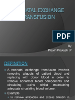 Neonatal Exchange Transfusion
