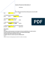 Examen Parcial Excel