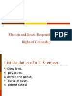 Election and Duties, Responsibilities, And Rights