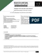 El saber pedagogico de los docentes universitarios.pdf