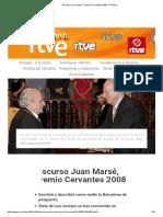 Discurso Juan Marsé, Premio Cervantes 2008 - RTVE.es