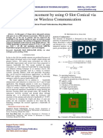 Bandwidth Enhancement by using O Slot Conical via whole for Wireless Communication