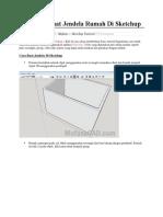 Cara Membuat Jendela Rumah Di Sketchup
