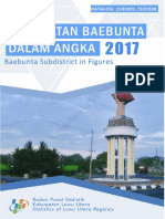 Kecamatan Baebunta Dalam Angka 2017