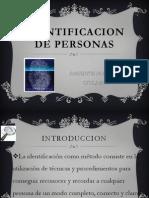 Identificacion de Personas