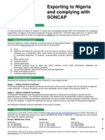 Complying With SONCAP