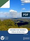 Informe post incendio forestal Chella 15/06/2016