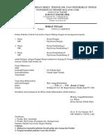 Surat Tugas Pembimbing, Penguji, Sempro Skripsi s1 Ts Edit