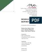 Demolition Report