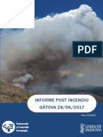 Informe post incendio forestal Gátova 28/06/2017