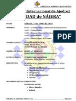 Bases Del VI Abierto Ajedrez Rápido 2018