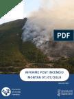 Informe post incendio forestal Montán 07/07/2015