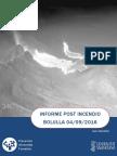 Informe post incendio forestal Bolulla 04/09/2016