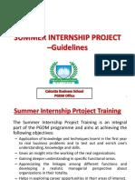 Summer Training Guidelines CBS
