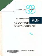 Jean-François Lyotard-La Condition Postmoderne_ Rapport Sur Le Savoir-Minuit (1979)