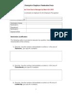 Campus Enterprises Employee Nomination Form 2015