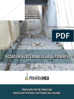 Propuneri Pentru Problema Pasajelor Pietonale Subterane Din Chișinău