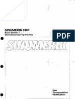 Sinumerik 810T Operating & Programming