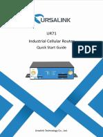 Ursalink UR71 Industrial Cellular Router Quick Start Guide