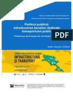 Politica Publica Banda Dedicata Transportului Public
