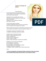 Acto de Consagración a La Virgen de Fátima