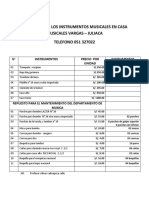 COTIZACION DE LOS INSTRUMENTOS MUSICALES EN CASA MUSICALES VARGAS.docx