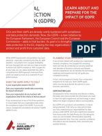 Sungardas the General Data Protection Regulation Gdpr Flyer